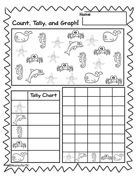 printable graphs for pre k printable under the sea math activities transitional