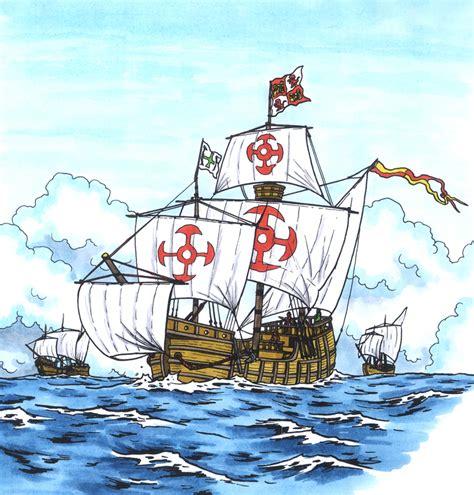 barcos animados de cristobal colon viaje de crist 243 bal col 243 n en las carabelas curr 237 culum en