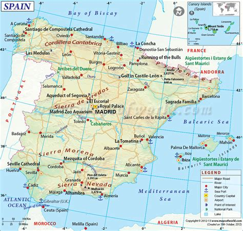 espana map big and beautiful map of spain the world city airport and spain