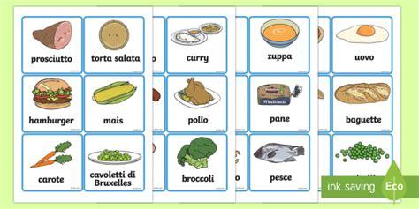 nomi di alimenti illustrazioni degli alimenti cibo nome vocaboli immagine