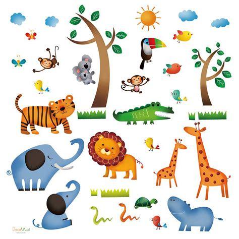 Kinderzimmer Safari Gestalten by Wandsticker Dschungeltiere Safari Wandsticker Kinderzimmer