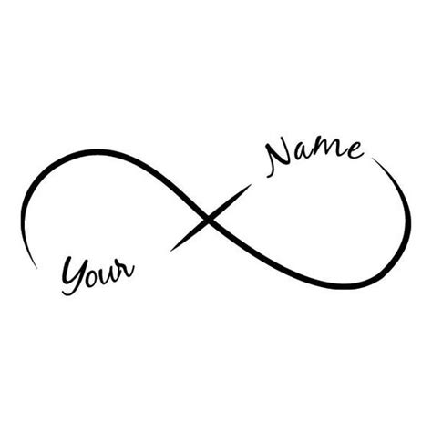 design your own infinity tattoo request a custom order