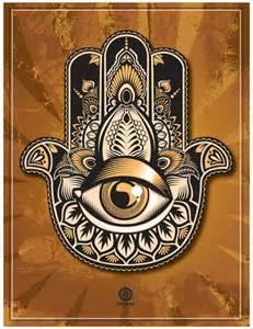 stylized hamsa hand protection and power symbolism