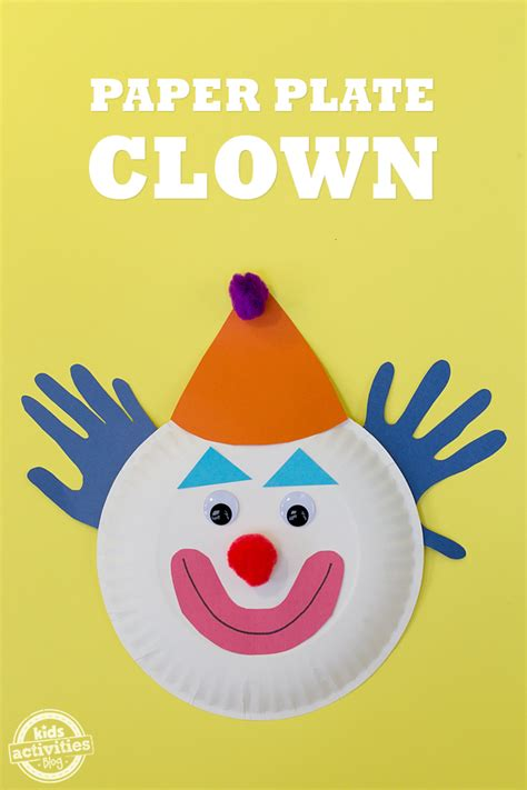 How To Make A Paper Clown - paper plate clowns