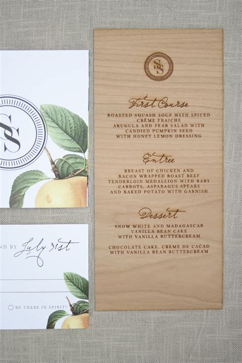 Wedding Invitations With Woods Themes by And Rustic Wood Engraved Wedding Invitations
