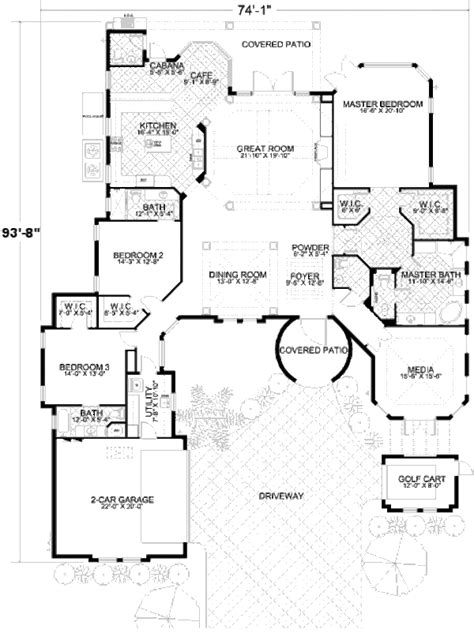 420 sq ft house plans mediterranean style house plan 3 beds 3 5 baths 3446 sq ft plan 420 130