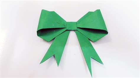 How To Make Ribbon Paper - how to make a bow ribbon diy ribbon bow origami bow