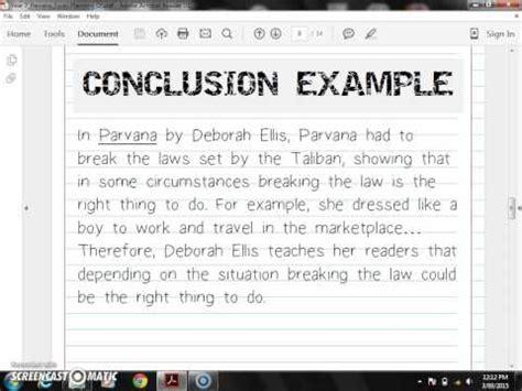 Parvana Essay by Comparative Essay Conclusion Sle