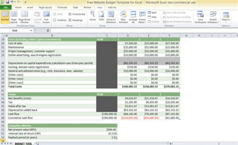 Budget Software Package From Woolworths free website budget template for excel