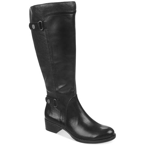 mens wide calf boots franco sarto crash wide calf boots in black lyst