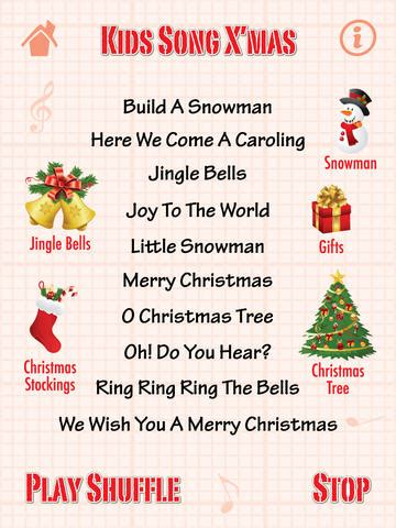kids song x mas for ipad christmas songs on the app store