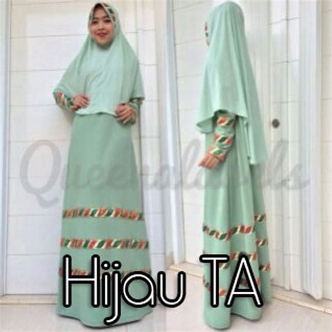 Gamis Pesta Queena raline by queena hijau ta baju muslim gamis modern