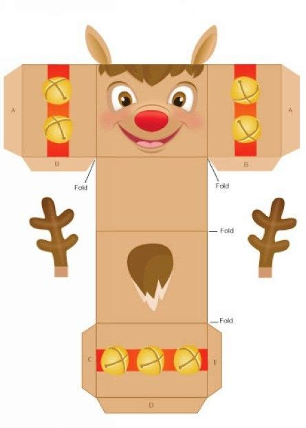 templates for xmas boxes easy homemade reindeer christmas gift box templates 2014