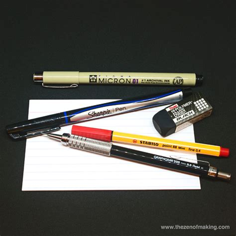 5 Drawing Materials by 5 Simple Drawing Tools For Sketches The