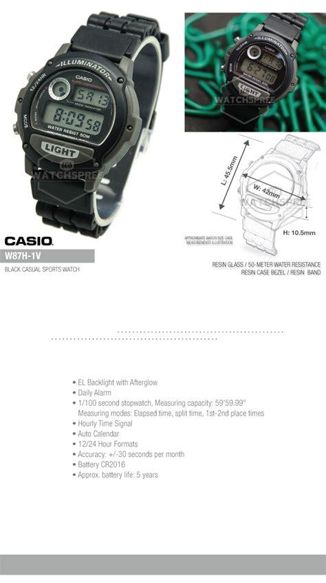 Casio Standard W 87h 1v casio standard digital w87h 1v 4971850552505 ebay