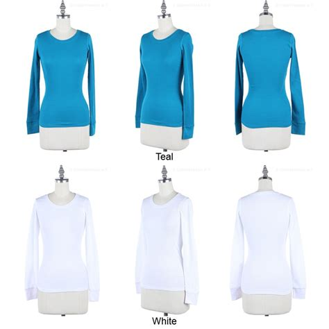 Ola Basic Knitted Crew Neck Top basic thermal crew neck sleeve knit top casual cotton stretchable s m l ebay