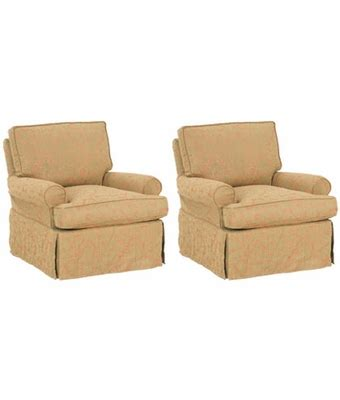 slipcovered rocker set of 2 slipcovered swivel glider rocking chairs with