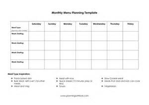 menu planning template beepmunk