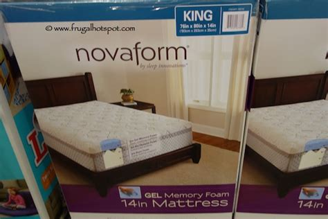 costco bed in a box costco sale novaform 14 quot gel memory foam mattress