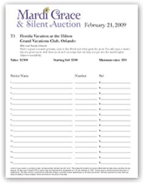 auction bid card templates business fundraising letter sle fundraising letters