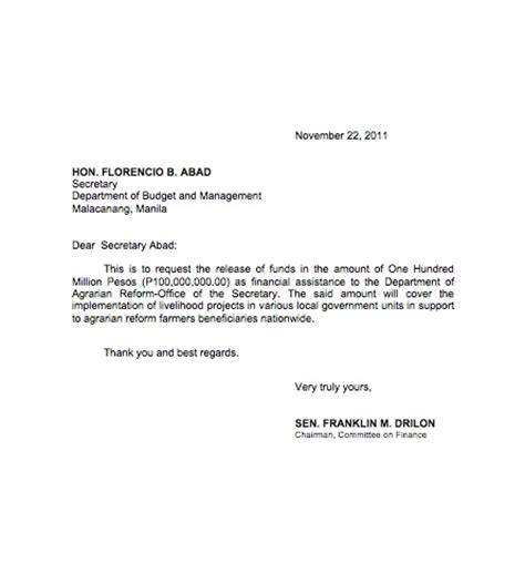 Financial Endorsement Letter Luy Files Even Sexy S Driver Got Napoles Bonus