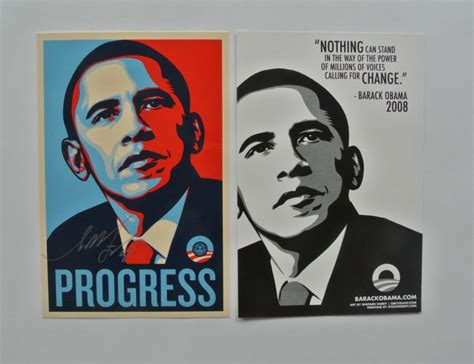 Shepard Fairey Obama Sticker shepard fairey obey obama progress sticker print
