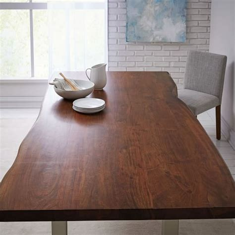 live edge wood table live edge wood dining table west elm