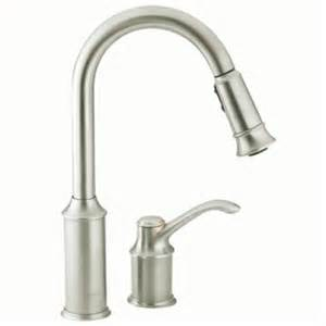 Pulldown Kitchen Faucet by Shop Moen Aberdeen Classic Stainless Pull Down Kitchen