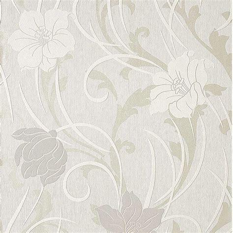 carta da parati fiori carta da parati fiori moderni colore bianco e tortora