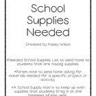 Parent Letter School Supplies 1000 Images About Notes To Send Home On Supply List Supplies And Letter To