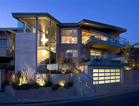 Rectangle Kitchen Design exterior design modern garage doors with balcony also