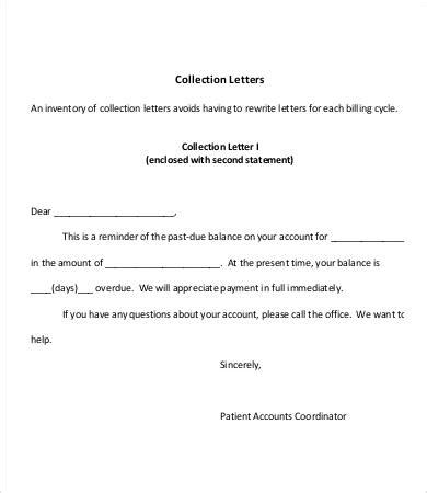 Patient Letter For Outstanding Balance collection letters sles f resume