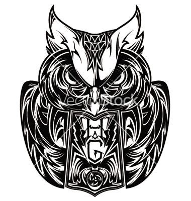 tattoo owl vector owl tattoo vector 605598 by gashishs on vectorstock