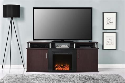 Discount Tv Review Cheap Tv Stand With Fireplace Home Design Inspirations