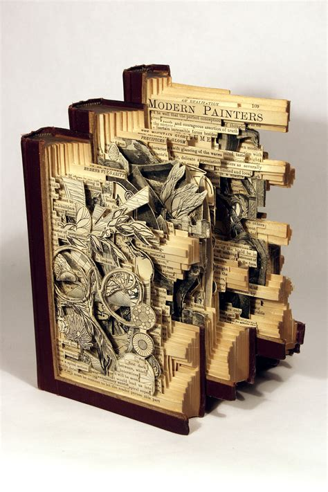 libro the art of creative interesting book carving art by brian dettmer 14 pics i like to waste my time