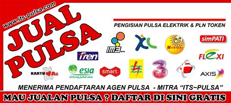 Pulsa Multi All Operator spanduk mitra dealer pulsa all operator