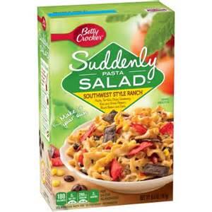pasta salad box betty crocker suddenly pasta salad southwest style ranch pasta salad 7 25 oz box walmart com
