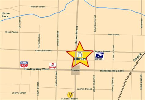 galion ohio map galion library location and map