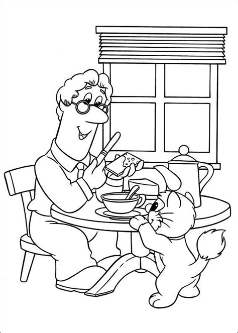 free postman pat coloring pages