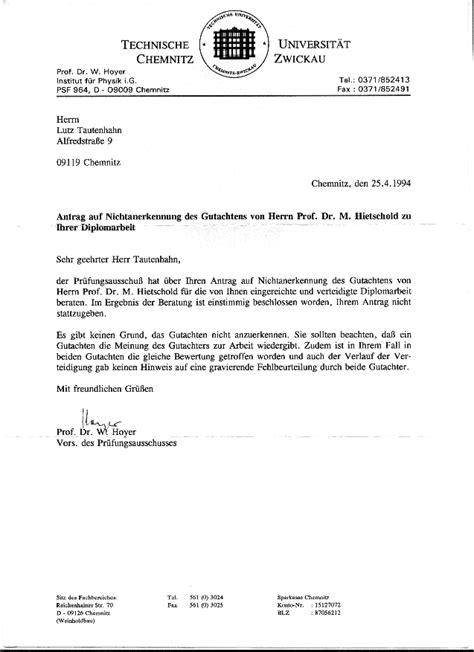 Vorlage Antrag Verlängerung Diplomarbeit Verwaltungsstreitsache Tautenhahn Tu Chemnitz