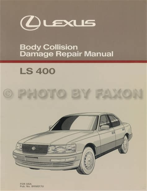 1992 1993 lexus ls400 and sc400 automatic transmission repair manual original