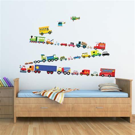 Impressionnant Stickers Deco Chambre Garcon #2: Stickers-chambre-enfant-garçon-moyens-transport.jpg