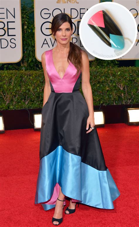 sandra bullock golden globes 2014 6 nail art worthy golden globes 2014 dresses