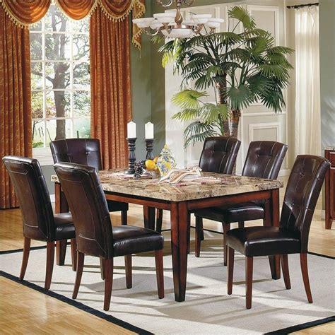 7pc dining room set montibello 7pc dining room table set mn500t pkg2
