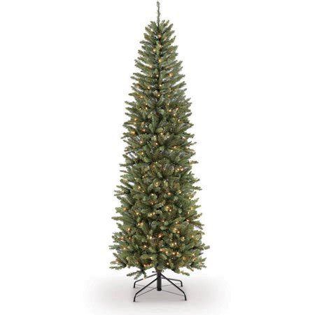 puleo christmas trees puleo international 7 5 pre lit fraser fir pencil tree artificial tree with 350 clear