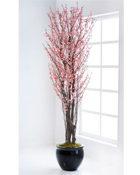 7 artificial cherry blossom silk tree in pink at petals