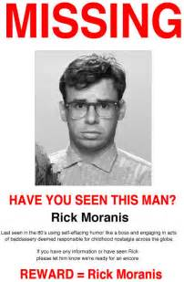 funny missing poster rick moranis on imgfave