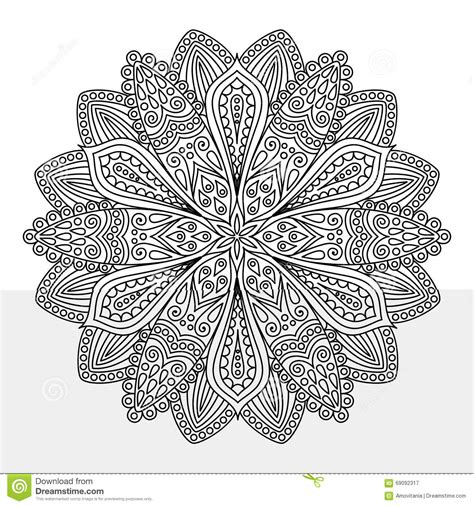 intricate flower coloring page intricate flower coloring page stock vector image 69092317
