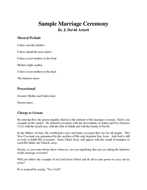 Wedding Ceremony Format by Best Photos Of Wedding Ceremony Sles Sle Wedding
