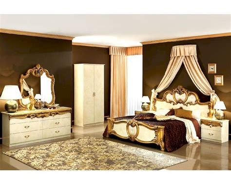 baroque bedroom furniture bedroom set gold baroque classic style made in italy 33b421
